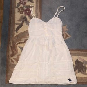 Abercrombie and Fitch white summer dress w/ straps